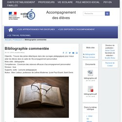Accompagnement des élèves - Bibliographie commentée