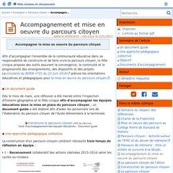 Accompagnement et mise en oeuvre du parcours citoyen - Pôle civisme et citoyenneté