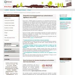 Dispositif d'accompagnement aux collectivités en Agenda 21 et/ou PCET