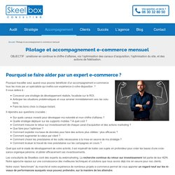 Accompagnement e-commerce mensuel
