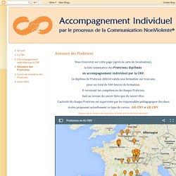 Accompagnement Individuel par le processus de la Communication NonViolente: Annuaire des Praticiens