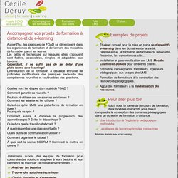 Accompagnement des projets FOAD et e-learning - Cécile Deruy - consultante e-learning