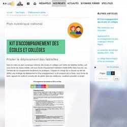 Kit d'accompagnement des écoles et collèges - Délégation académique au numérique éducatif