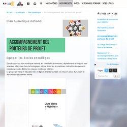 Accompagnement des porteurs de projet - Délégation académique au numérique éducatif