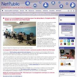 Assurer un accompagnement numérique pour les demandeurs d'emploi en EPN : Modèle de convention avec Pôle Emploi