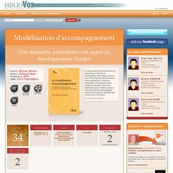 Modélisation d'accompagnement : Une démarche participative en appui au développement durable - BiblioVox – La bibliothèque numérique des bibliothèques municipales et départementales (eBook)