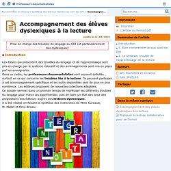 Accompagnement des élèves dyslexiques à la lecture- Les Enseignants Documentalistes de l'Académie de Poitiers