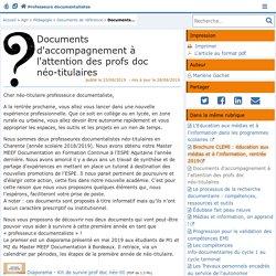 Documents d'accompagnement à l'attention des profs doc néo-titulaires - Doc'Poitiers - Le site des professeurs documentalistes