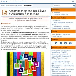 Accompagnement des élèves dyslexiques à la lecture - Doc'Poitiers - Le site des professeurs documentalistes