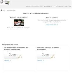 COURS e-learning BTS Economie 2sd année- Lycée d'accompagnement et de soutien scolaire sur internet - Enseignement et formation pédagogiques