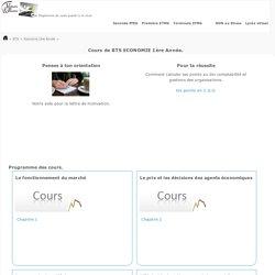 COURS e-learning BTS Economie 1ère année- Lycée d'accompagnement et de soutien scolaire sur internet - Enseignement et formation pédagogiques