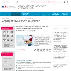 Appel à commentaire sur le livre blanc 'Accompagnement et formation des enseignants aux usages du numérique'
