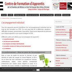 L'accompagnement individuel - CFA 22 - Campus de Dinan