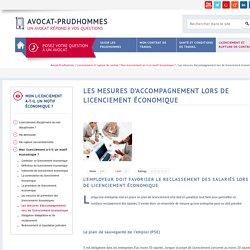 Les mesures d'accompagnement lors de licenciement économique - Avocat-Prudhommes
