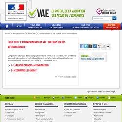 L'accompagnement en VAE : quelques repères méthodologiques / Consulté le 01/03/2017