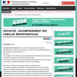 Accompagnement des Familles Monoparentales – Ministère des Familles, de l'Enfance et des Droits des femmes