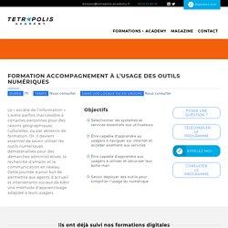 Formation accompagnement à l'usage des outils numériques - Tetrapolis Academy