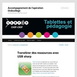 Transférer des ressources avec USB sharp