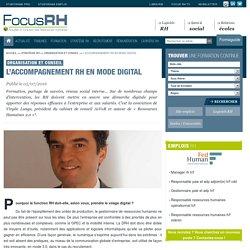 L'accompagnement RH en mode digital - Organisation et conseil - Focus RH