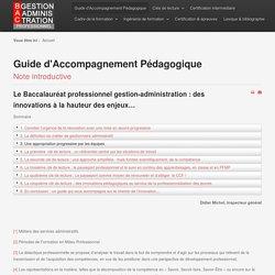 Guide d'Accompagnement Pédagogique