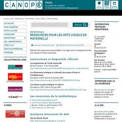 Ressources pour les arts visuels en maternelle - CANOPÉ Paris - Le réseau de création et d'accompagnement pédagogiques