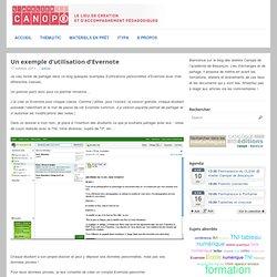 Un exemple d'utilisation d'Evernote - TICE