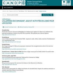 L'allemand en s'amusant :jeux et activités en ligne pour les élèves - CANOPÉ Paris - Le réseau de création et d'accompagnement pédagogiques