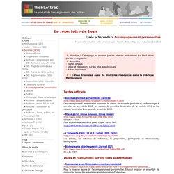 Lycée > Seconde > Accompagnement personnalisé