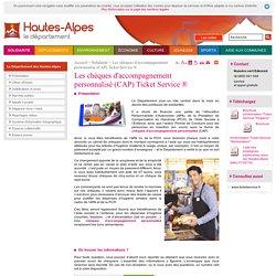 Département des Hautes-Alpes - Les chèques d'accompagnement personnalisé