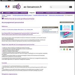 Accompagnement personnalisé - Rectorat de l'académie de Besançon - DAFPIC