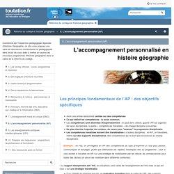 8. L'accompagnement personnalisé (AP) - toutatice.fr