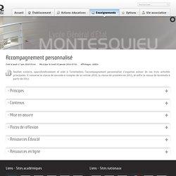 Accompagnement personnalisé - lycee-montesquieu.fr