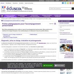 Ressources pour l'accompagnement personnalisé en sixième - Fiches pédagogiques pour l'accompagnement personnalisé en sixième