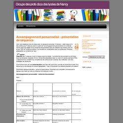 Groupe des profs docs des lycées de Nancy » Accompagnement personnalisé : présentation de séquence