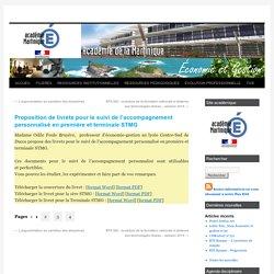 Proposition de livrets pour le suivi de l'accompagnement personnalisé en première et terminale STMG