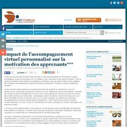 Impact de l'accompagnement virtuel personnalisé sur la motivation des apprenants***