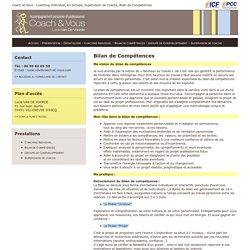 Bilan de Compétences - Coach & Vous - Accompagnement personnel et professionnel - Lucie Van De Voorde