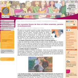 L'accompagnement à la parentalité : Association des Collectifs Enfants Parents Professionnels