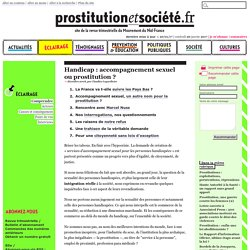 Handicap : accompagnement sexuel ou prostitution