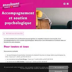 Accompagnement et soutien psychologique - Mairie de Toulouse
