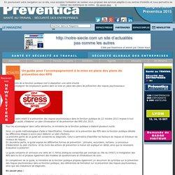 Un guide pour l'accompagnement à la mise en place des plans de prévention des RPS - Risques psychosociaux / Fonction publique