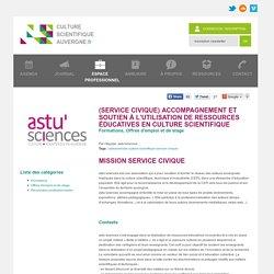 Journal - (service civique) Accompagnement et soutien à l'utilisation de ressources éducatives en culture scientifique