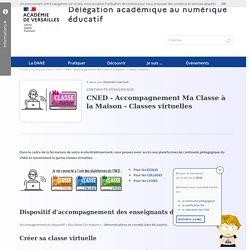 CNED - Accompagnement Ma Classe à la Maison - Classes virtuelles