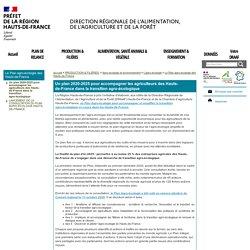 DRAAF HAUTS DE FRANCE 23/12/20 Un plan 2020-2025 pour accompagner les agriculteurs des Hauts-de-France dans la transition agro-écologique
