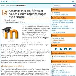 Accompagner les élèves et soutenir leurs apprentissages avec Moodle - DANE de Poitiers