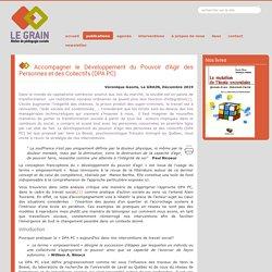 Accompagner le Développement du Pouvoir d'Agir des Personnes et des Collectifs (DPA PC)