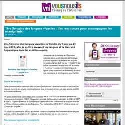 1ère Semaine des langues vivantes : des ressources pour accompagner les enseignants