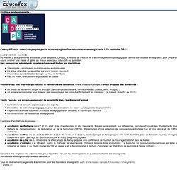 Canopé lance une campagne pour accompagner les nouveaux enseignants à la rentrée 2014
