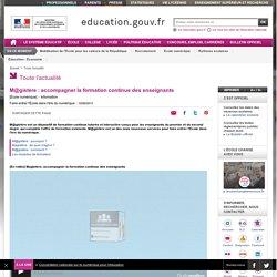 M@gistère : accompagner la formation continue des enseignants - education.gouv