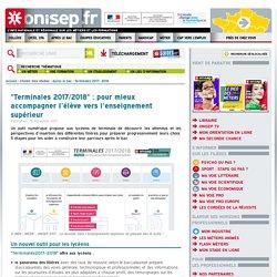 """""""Terminales 2017/2018"""" : un espace pour les élèves de Terminale ONISEP"""